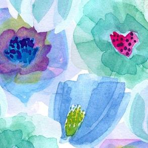 Head-Over-Heels Flowers - Blue