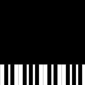 piano key border fabric