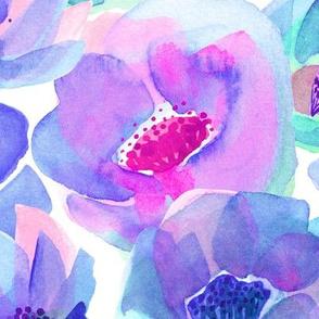 Head-Over-Heels Flowers - Purple