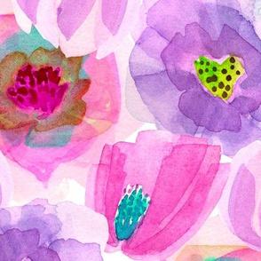 Head-Over-Heels Flowers - Pink/Purple
