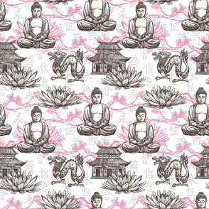 Asian Buddah Dragon Pattern