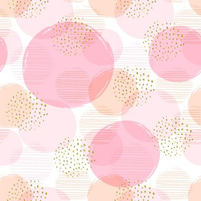 Pink Gold Flecks In Circles-ed