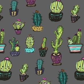Cute Cactus Grey