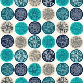 Shades Of Blue And Wheat Disks