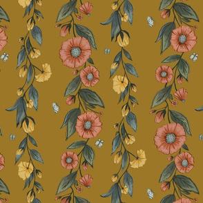 Wildflower Stripes in Golden