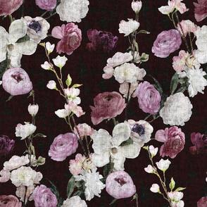 Moody Floral #3 - Deep Burgundy