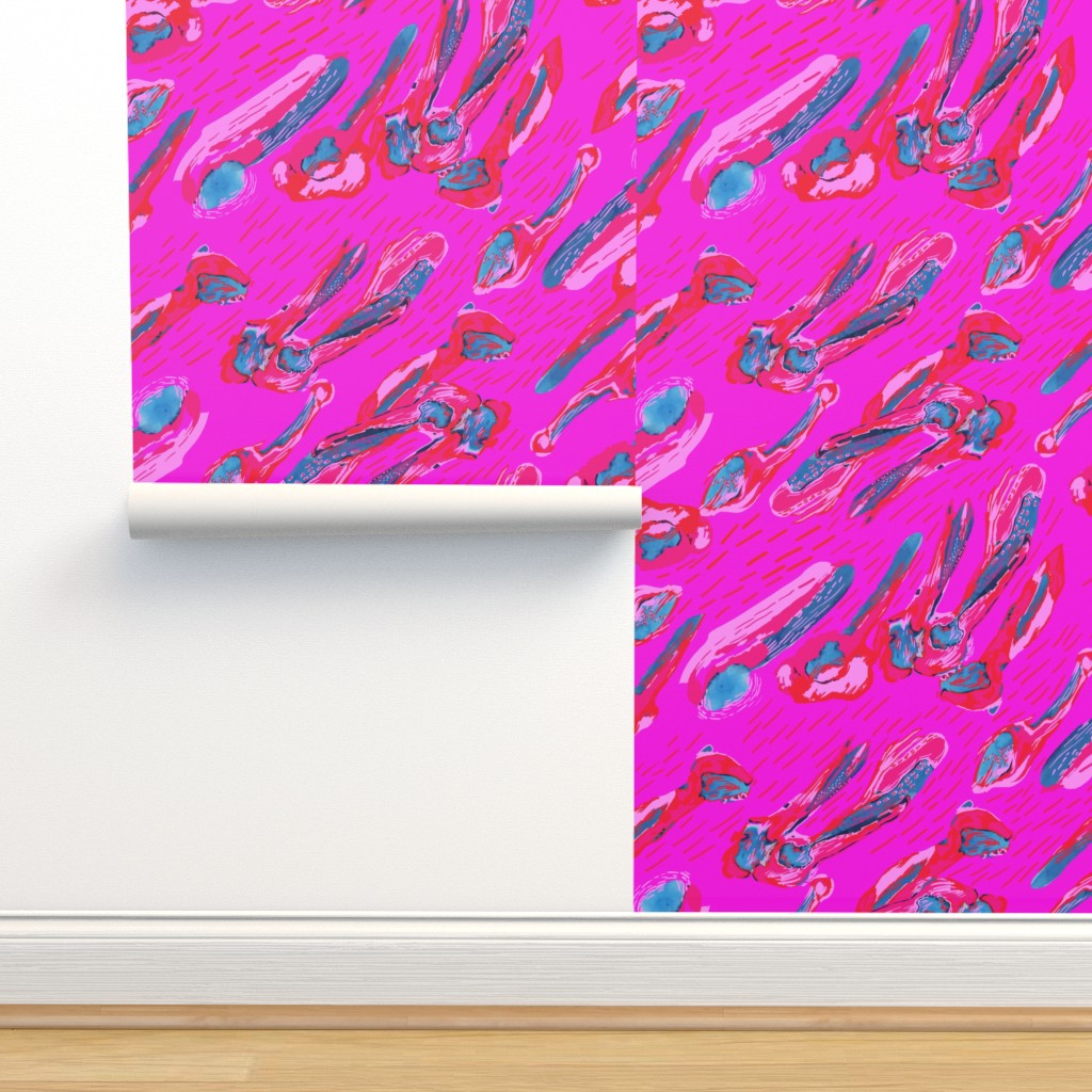 Isobar Durable Wallpaper featuring PINK RED BLUE to the MAX by katiekortman
