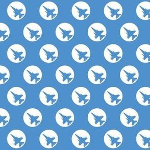 CF-18 Jet light blue white dots