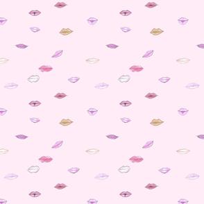 Lips Fabric pink