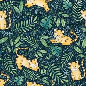 Tigers in Jungle - Blue