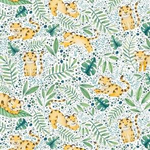 Tigers in Jungle - white