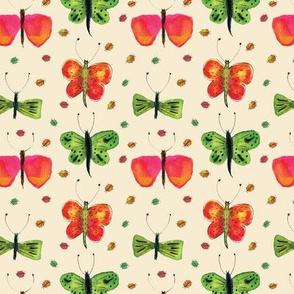 Watercolour Bugs & Butterflies