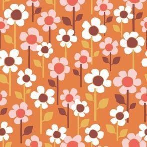 Field Of Flowers on Orange