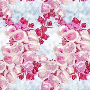 Foxglove pink, red