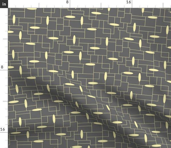 Remarkable Fabric By The Yard Minimal Maximal Wire Shelves Lemon On Dark Grey Download Free Architecture Designs Embacsunscenecom