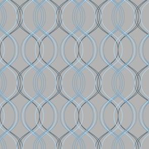 minimal maximal coordinate - blues on light grey