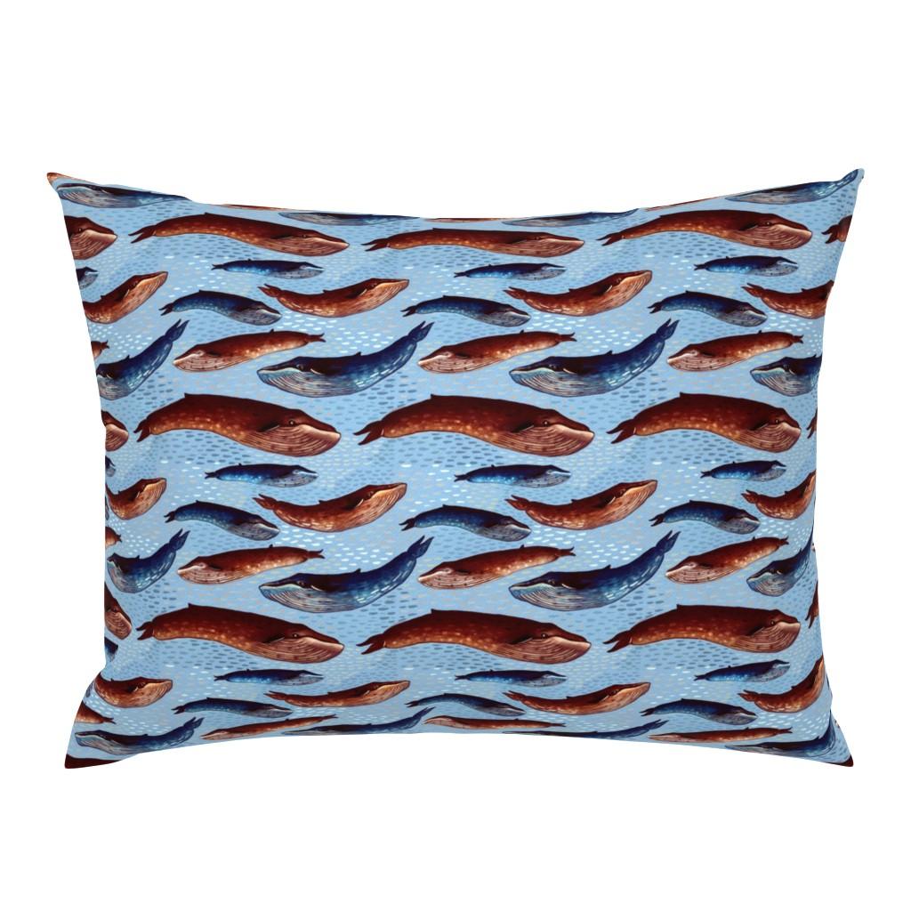 Campine Pillow Sham featuring Abyssal choir - shallows by bound_textiles