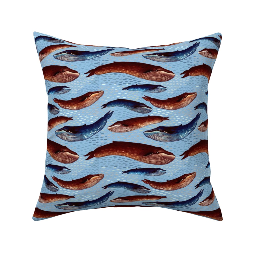 Catalan Throw Pillow featuring Abyssal choir - shallows by bound_textiles
