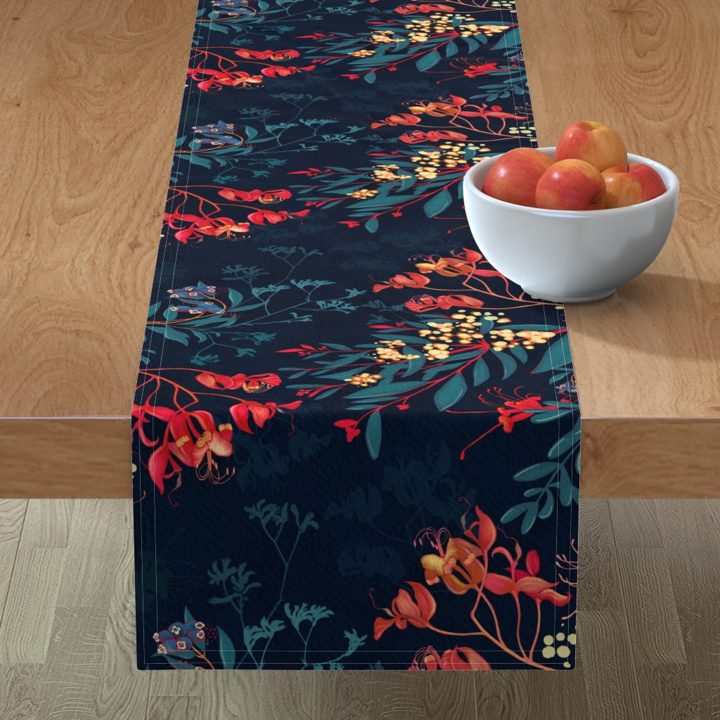 Minorca Table Runner featuring Australis - Dusk by bound_textiles