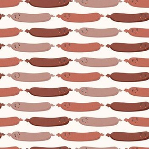 Cute vector sausages cartoon