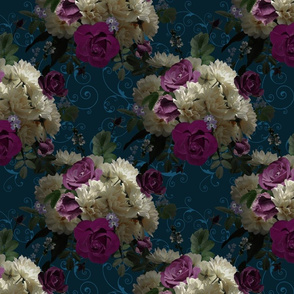 Moody Floral Blue