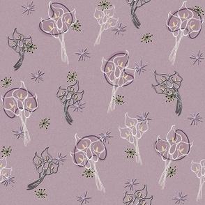 Calla Lilies on Lavender