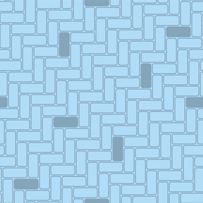 minimal maximal blocks - medium on light blue