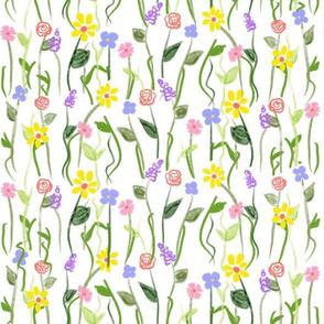 Wildflower Carpet - White