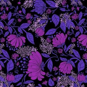 Midnight Nouveau Floral