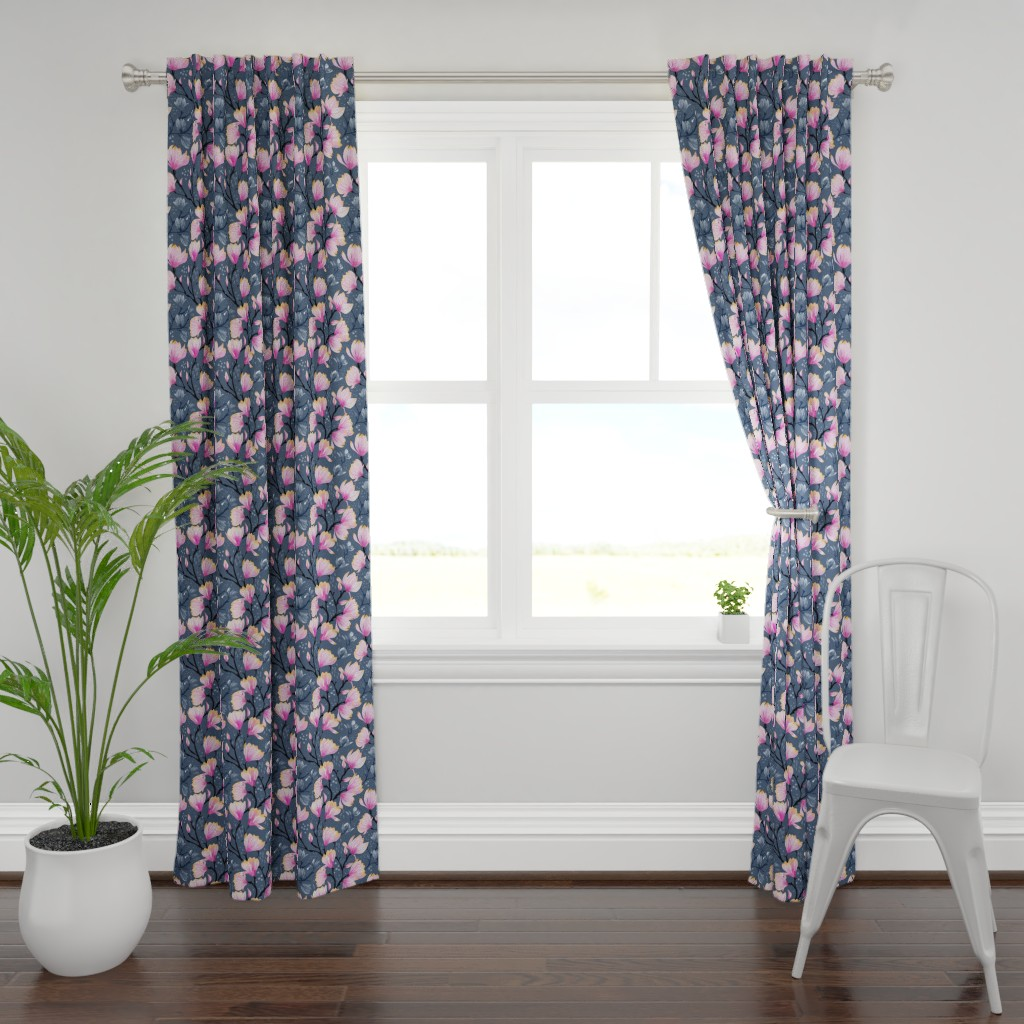 Plymouth Curtain Panel featuring Magnolia Melancholy by marketa_stengl