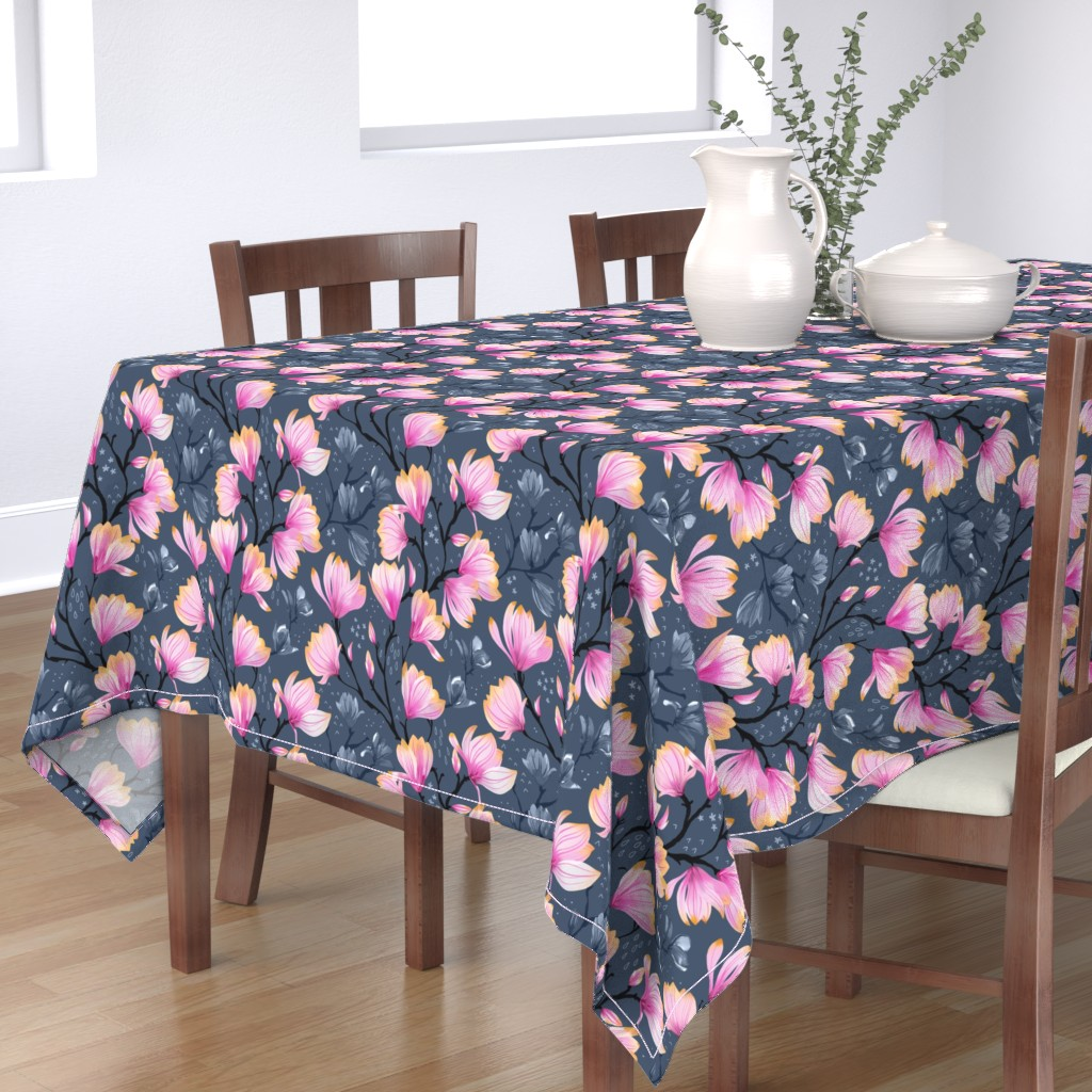 Bantam Rectangular Tablecloth featuring Magnolia Melancholy by marketa_stengl