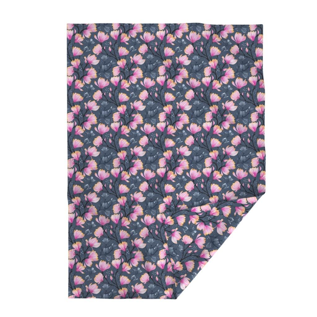 Lakenvelder Throw Blanket featuring Magnolia Melancholy by marketa_stengl
