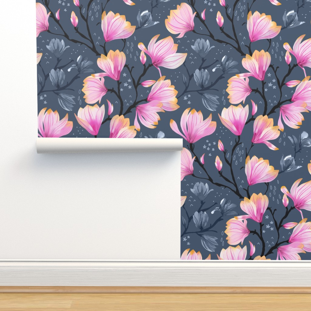 Isobar Durable Wallpaper featuring Magnolia Melancholy by marketa_stengl