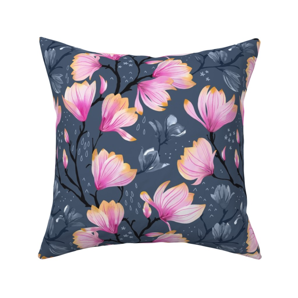Catalan Throw Pillow featuring Magnolia Melancholy by marketa_stengl