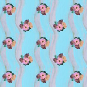wishy washy floral stripe