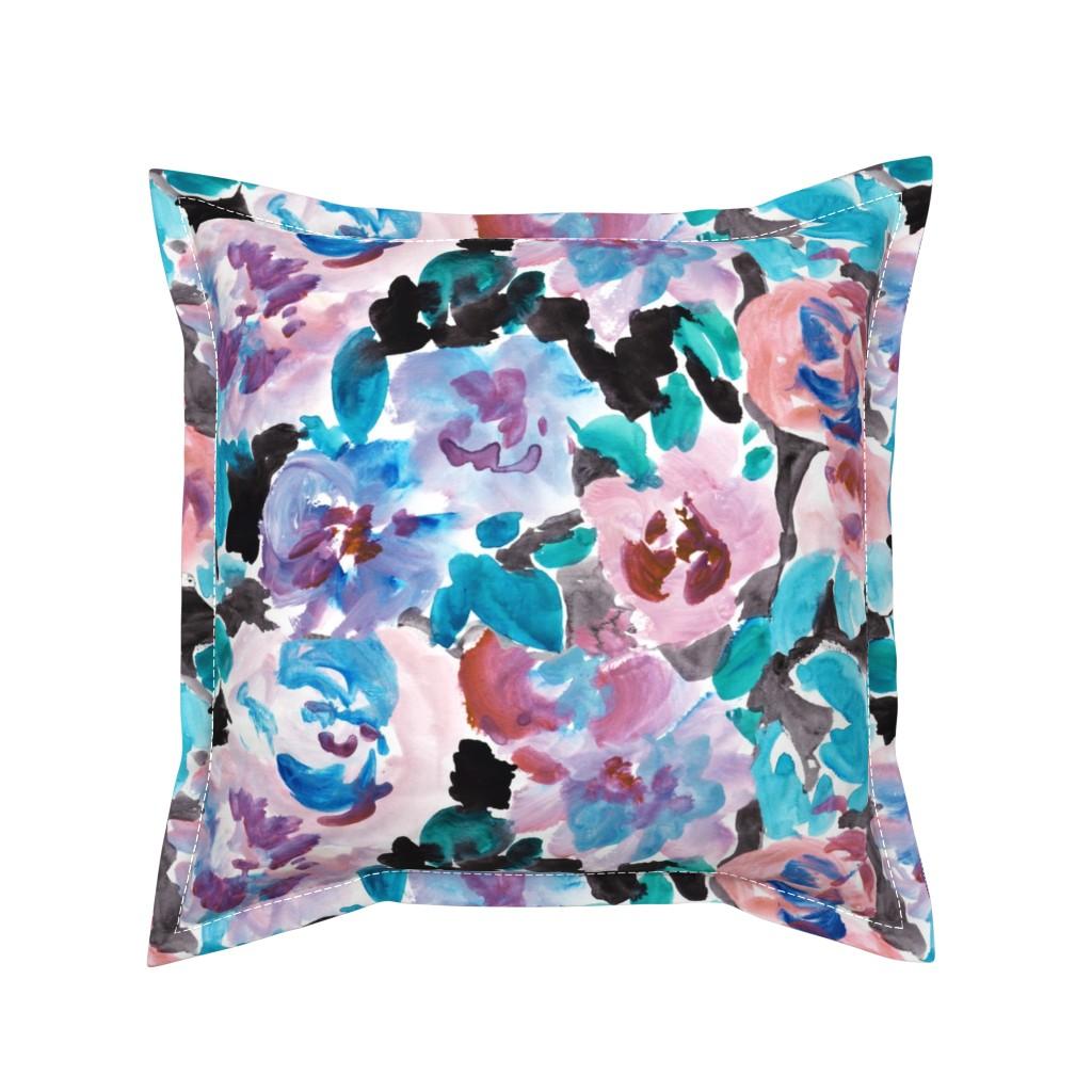 Serama Throw Pillow featuring Flowerparadise7 by susanna_nousiainen