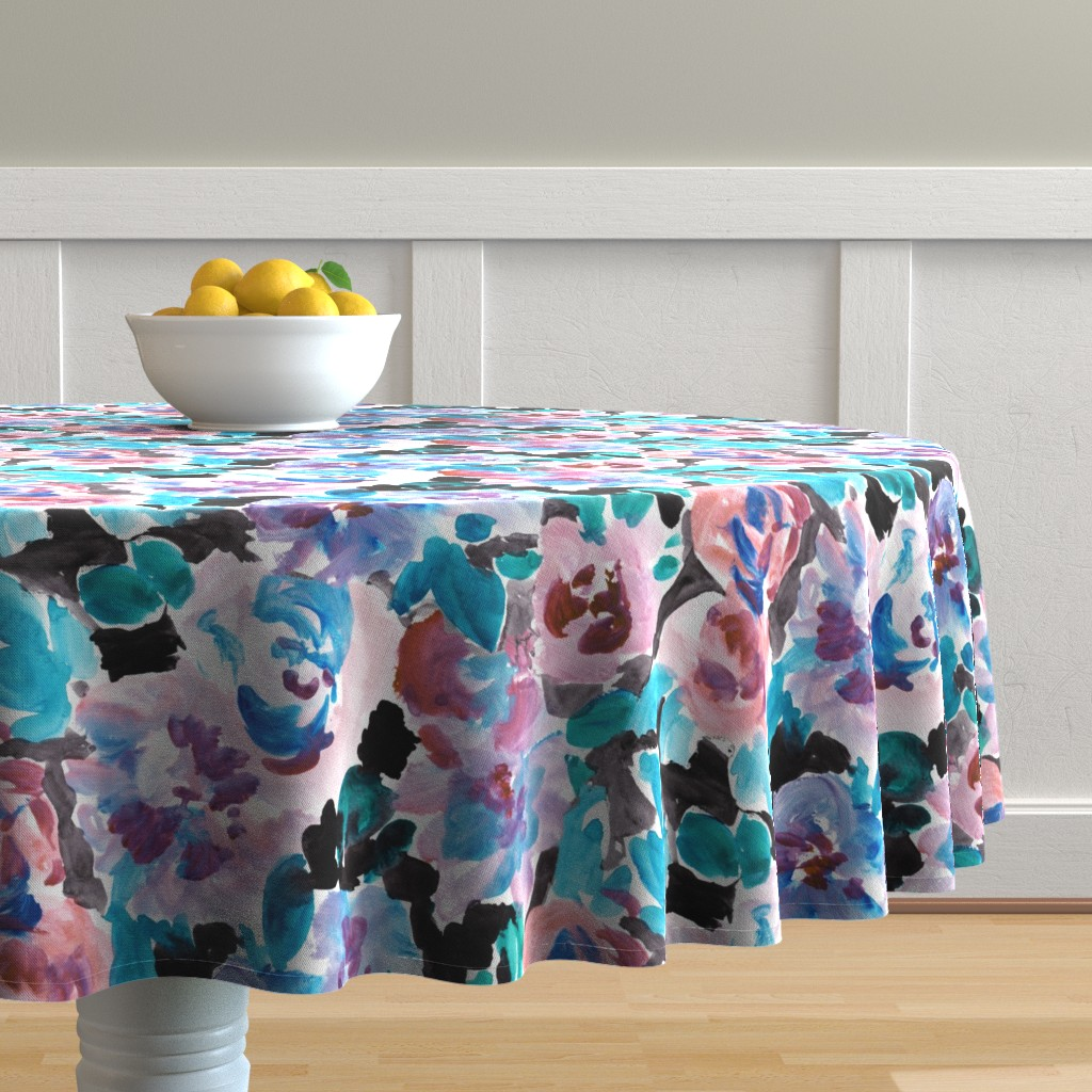 Malay Round Tablecloth featuring Flowerparadise7 by susanna_nousiainen