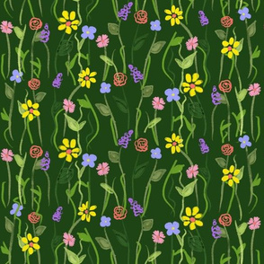 Wildflower Carpet - Green