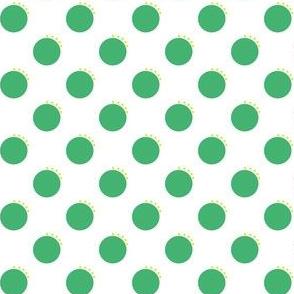 Green Quirky Polka Dots