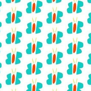 Abstract Teal and White Flowers