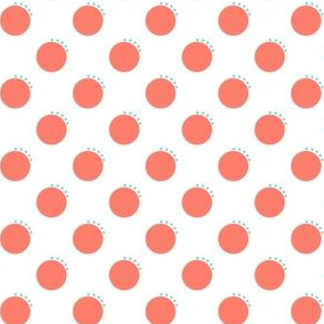 Pink and Teal Quirky Polka Dots