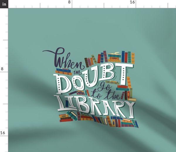 Stoff Meterware Bücher Bibliothek Lesen Bibliothekar Zitate Lernen