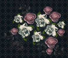 Roses and gardenias back pattern