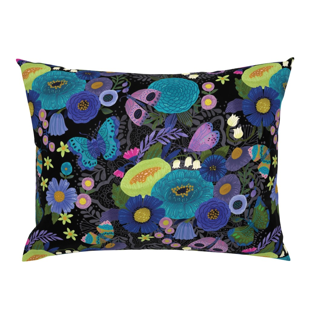 Campine Pillow Sham featuring Butterfly Blues  by cynthiafrenette