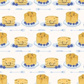 Cute blueberry pancake day breakfast vector illustration