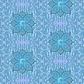 Moody Blue Flower