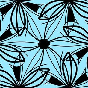 Sketchy Flower Blue