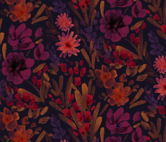 Saturday floral dark