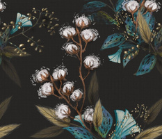 Moody Cotton Flowers by Kim Marshall