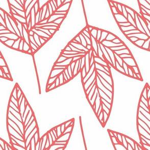 Leaves - Coral
